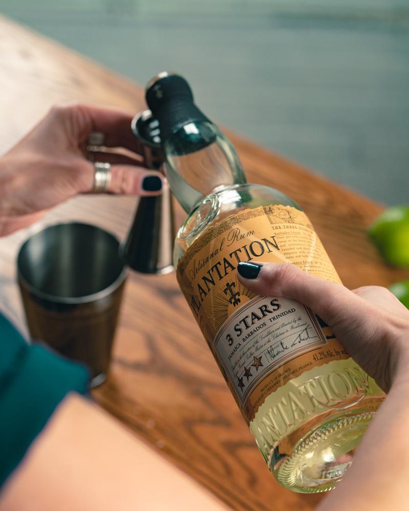 Plantation 3 stars rum in the daiquiri