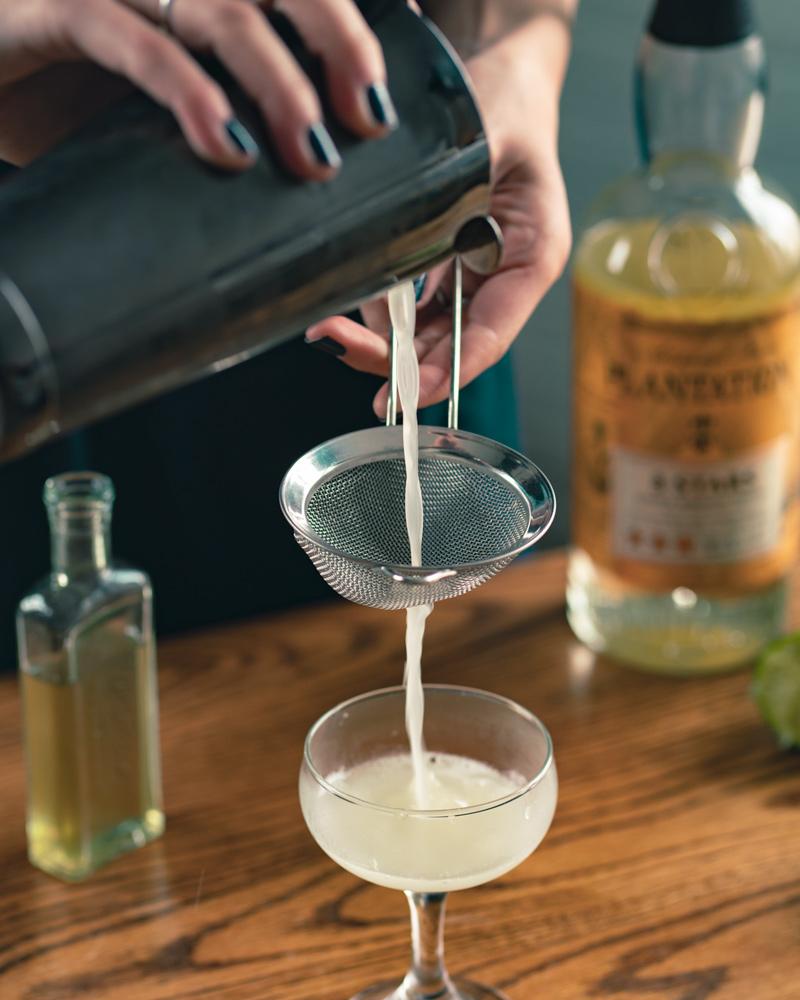 double straining the classic daiquiri