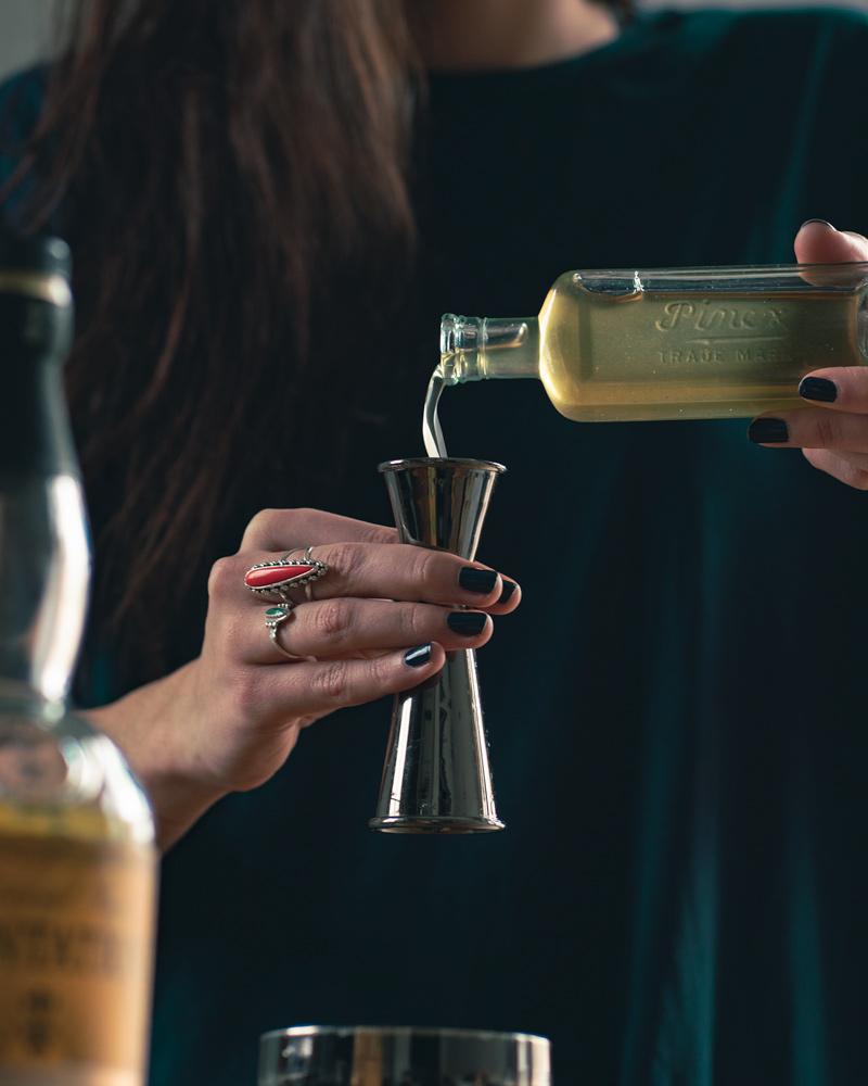 Homemade cane simple syrup to make daiquiris