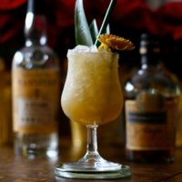 Misty Beach drink with flavors of vanilla, pineapple and rum.