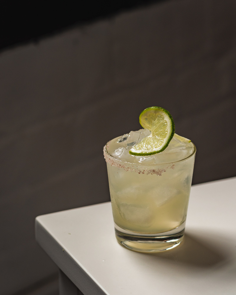 A classic margarita cocktail with blanco tequila