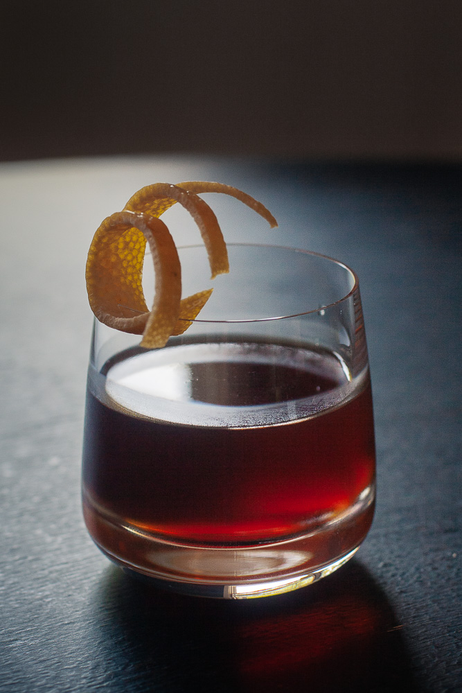 Road Dog Cocktail with Cynar and Rye Whiskey