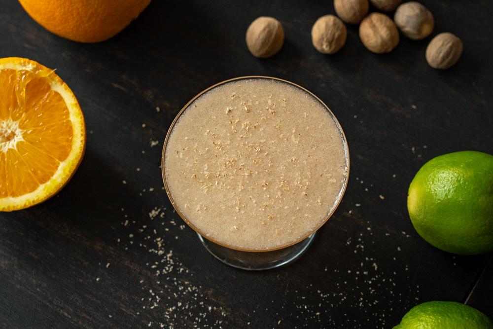Fresh nutmeg on the Banana Daiquiri