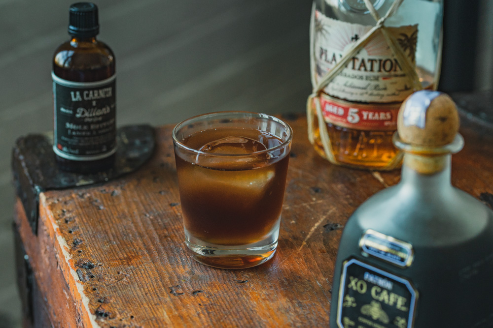 Halloween Candy Rum Old Fashioned Cocktail Recipe Inspiration
