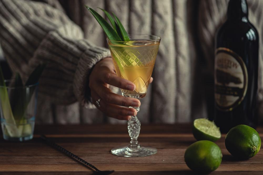 Clarified Jungle Bird Cocktail
