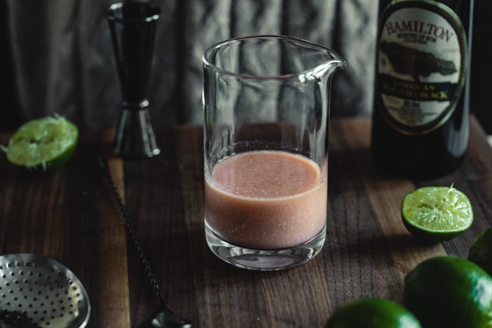 Clarified milk in the jungle bird