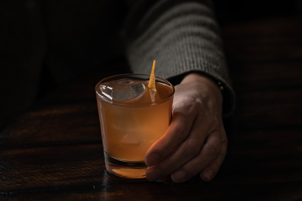 Wodow's Peak Rum Old Fashioned