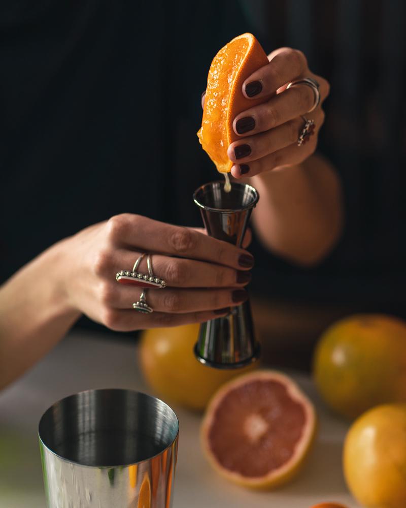 freshly squeezed orange juice for homemade drinks
