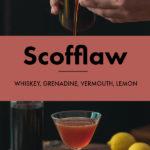 Grenadine and Fresh Lemon Scofflaw Cocktail