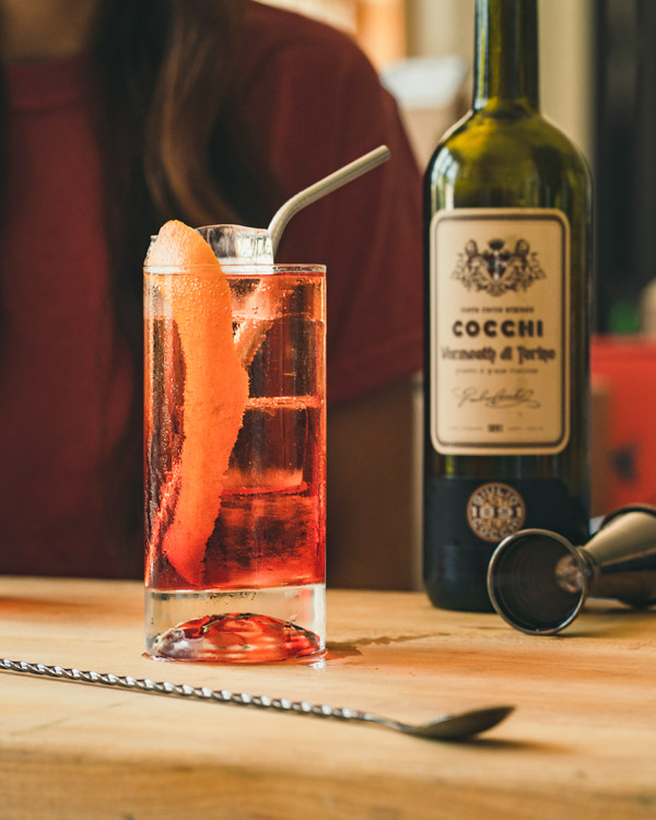 Americano with sweet vermouth