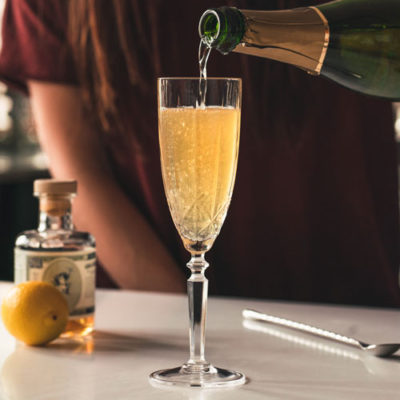 Topping with Champagne