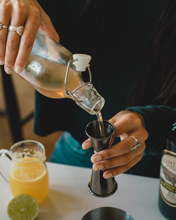 Simple Syrup to sweeten the Jungle Bird