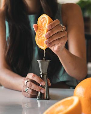 Squeezing Fresh Orange Juice