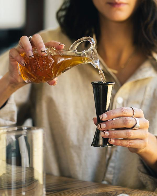 measuring chocolate whiskey
